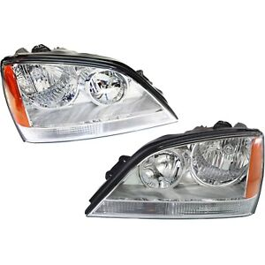 Headlight Set For 2005 2006 Kia Sorento Left And Right With Bulb 2pc