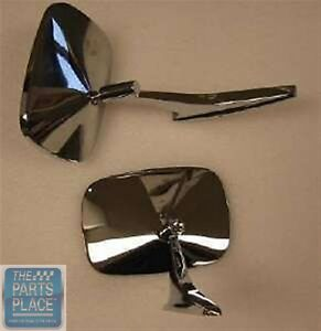 1968 72 Chevrolet Nova Stock Rectangular Chrome Mirror Set