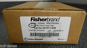 Fisherbrand Glass Amber Wm Packer 30ml Ptfe Face Lined Cap 02 911 438 Qty 24ea