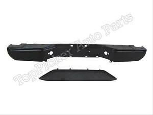 For 2005 2006 Frontier Rear Step Bumper Face Bar Black Center Lower Pad