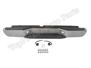 For 2005 2013 New Frontier Rear Step Bumper Silver Full Assy W Hitch Pads Light