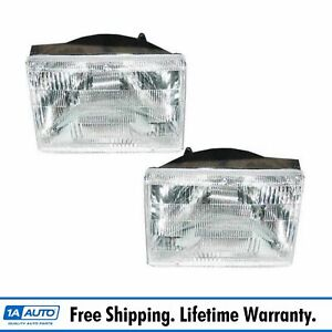 Headlights Headlamps Left Right Pair Set For 93 98 Jeep Grand Cherokee