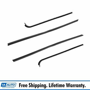 Window Sweep Weatherstrip Seal Inner Outer Set Of 4 For 51 54 Chevy Gmc