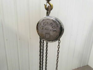 Cm Cyclone Model M 1 Ton Manual Chain Fall Hoist 10 6 Lift 2000 Lb Capacity