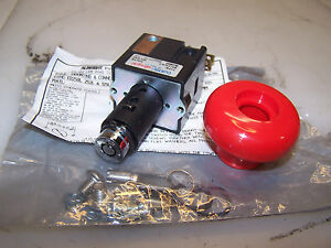 New Curtis Albright Emergency E stop Pushbutton With Key On off Switch Ed125la 2