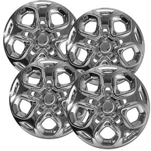 4 Pc Hubcaps Fits Ford Fusion 17 Chrome Abs Replacement Wheel Rim Cover