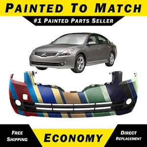 New Painted To Match Front Bumper Cover For 2007 2008 2009 Nissan Altima Sedan