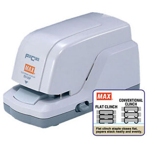 New Max Electronic 20 Sheet Flat Clinch Stapler Eh 20f Free Shipping