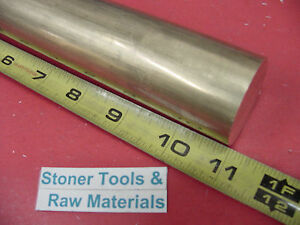 1 1 2 C360 Brass Round Rod 11 Long Solid H02 Lathe Bar Stock 1 50 Diameter
