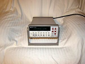 Agilent Hp 34401a Digital Multimeter 6 5 Digit Tested As Pictured 30 Days Warnty