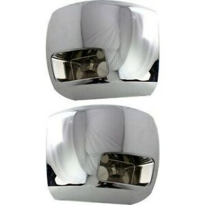 Bumper End Set For 2007 10 Silverado 2500 3500 Hd Front With Fog Light Hole 2pc