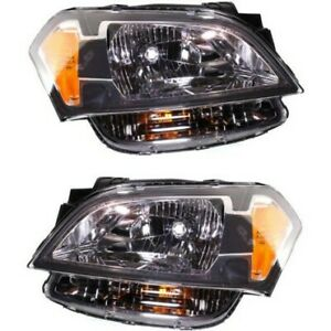 Headlight Set For 2010 2011 Kia Soul Left And Right With Bulb 2pc
