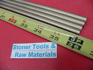 4 Pieces 1 4 C360 Brass Round Rod 36 Long Solid H02 250 Lathe Bar Stock