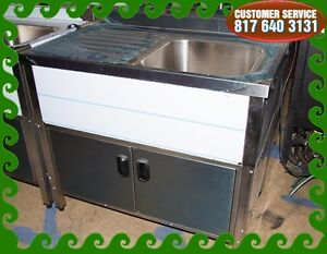 Single Compartment 0 Self Contained Kitchen Sink W drain Board