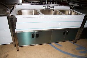 3 Compartment Self Contained Kitchen Sink