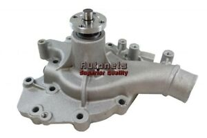 Bbf Ford Satin Aluminum 429cj 460 High Volume Water Pump Mustang Cobra Racing