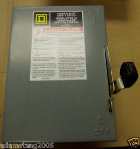 New Square D D221n 30 Amp 240 Volt Fusible Safety Switch Disconnect