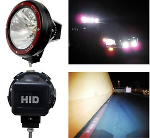 2x Universal 7 Inch Built in Xenon Hid 4x4 Off Road Rally Driving Fog Light Lamp