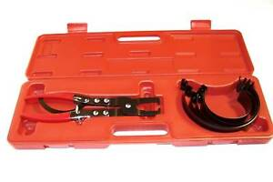 Piston Ring Compressor Cylinder Installer With Ratchet Pliers 6 Bands Tool Set