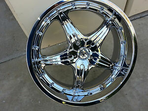20 Inch Sovrano S5 Chrome Wheels Rims Tires Fit 5x120 Bmw 3series Pontiac G8 Cts