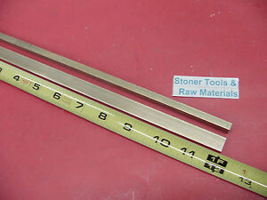 2 Pieces 1 4 X 1 2 C360 Brass Flat Bar 12 Long Solid 250 Mill Stock H02