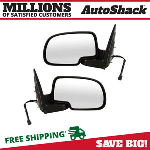 Power Chrome Side Mirror Pair For 1999 2004 Sierra 1500 1999 2002 Silverado 1500