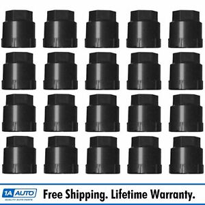 Dorman Wheel Lug Nut Cap Black Kit Of 20 For Chevy Gmc Pontiac Buick Oldsmobile