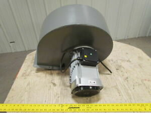 C45 4t Industrial Centrifugal Fan 220 380v 3ph 3 1hp 9 3 8 Inlet 7 7 8 Outlet