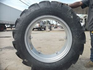 2 12 4x28 Ford Jubilee 2n 8n Tractor Tires W Wheels 2 650x16 3 Rib W tube
