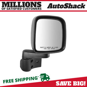 Side View Mirror Manual Black Passenger For 2003 2006 Jeep Wrangler 2 4l 4 0l