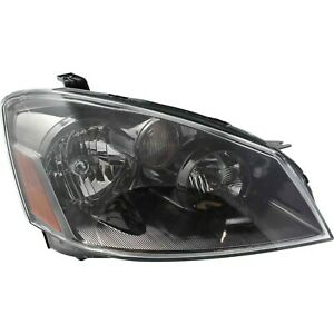Headlight For 2005 2006 Nissan Altima Right Black Housing With Bulb