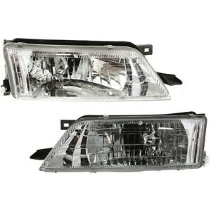 Headlight Set For 97 98 99 Nissan Maxima Left And Right With Bulb 2pc