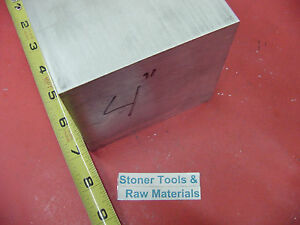 4 X 4 Aluminum 6061 Square Solid Bar 7 Long T6511 Flat New Mill Stock