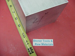 4 X 4 Aluminum 6061 Square Solid Bar 10 Long T6511 Flat New Mill Stock