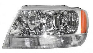Headlight Assembly 99 04 Jeep Grand Cherokee Limited Lh