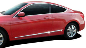 For Honda Accord 2 Door Lower Chromed Abs Accent Body Side Mouldings 2008 2012
