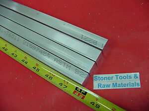 4 Pieces 5 8 X 5 8 Aluminum 6061 Square Flat Bar 48 Long T6511 New Mill Stock