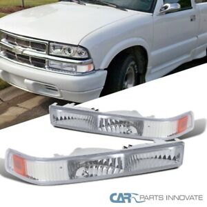 Chevy Gmc 98 04 S10 Blazer Sonoma Pickup Bumper Lights Corner Signal Lamps Clear