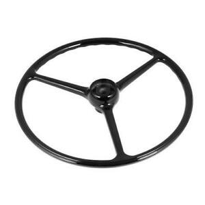 Jeep Cj5 Cj6 64 75 New Steering Wheel Black 3 Spoke X 18031 04