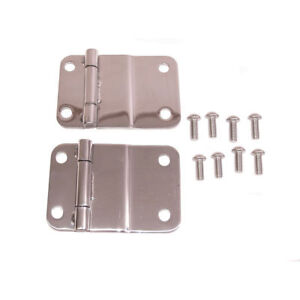 New Jeep Cj Cj5 Cj7 76 86 Stainless Tailgate Hinge Pair X 11114 01