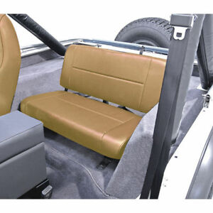 Jeep Wrangler Cj Yj 55 95 New Fixed Rear Seat Tan X 13461 04