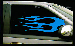 Blue Flame Fire Auto Car Truck Suv Both Left Right Window Tint Film Dark 24 x36