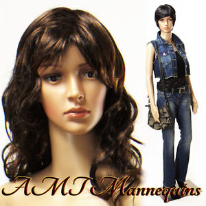 33 24 35 5ft 8 Tall On Sale female Mannequin Head Rotates Manikin Anna 2wigs