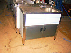 Self Contained Commercial Sink With Drain Board New