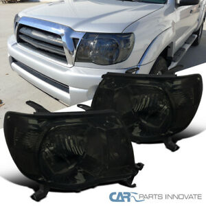 For Toyota 05 11 Tacoma Pre runner X runner Pickup Smoke Headlights Lamps Tinted