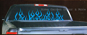 Blue Flame Auto Car Truck Suv Rear Back Window Tinted Tint Film 20 X 64 Roll