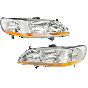 Headlight Set For 98 2000 Honda Accord Driver And Passenger Side