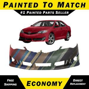 New Painted To Match Front Bumper Cover Fascia For 2012 2014 Toyota Camry Se