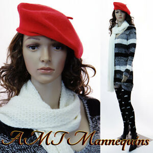 Female Mannequin Displays Ladies Sweaters caps On Saleplastic Manikin p2 2wigs
