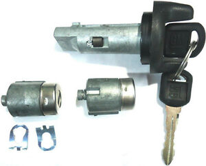 New Gm Oem Ignition Switch Lock Cylinder 2 Door Lock Cylinder 2 Logo Keys